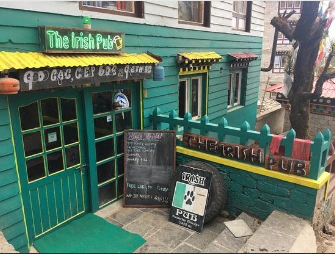 Highest Irish pub